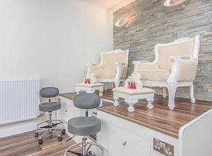 pedicure chairs and gel nail colours