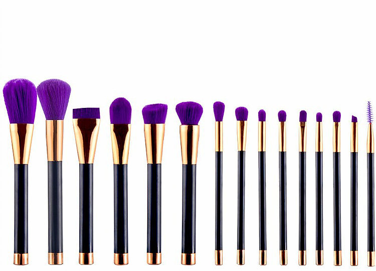 Black and Purple Bristle Makeup Brush