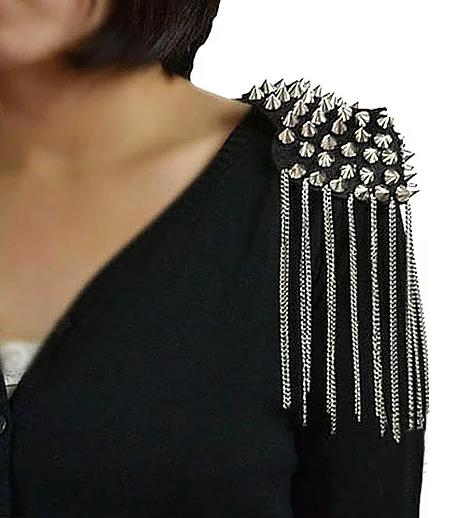 Studded Tassel Shoulder Epaulettes (pair)
