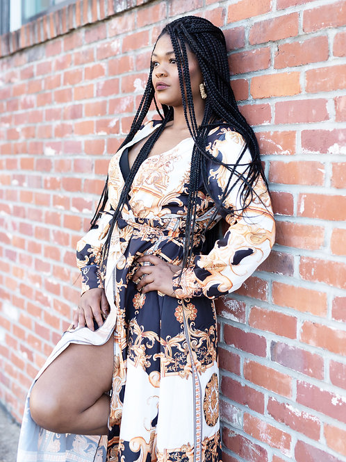 Designer Inspired High Split Dress