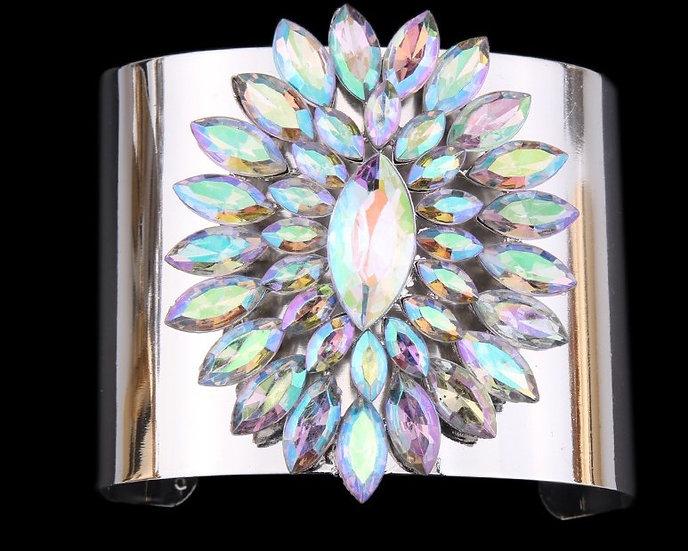 """""""Hope"""" Crystal Open Cuff Bracelet"""