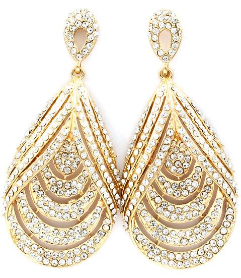 """""""Makayla"""" Chandelier Crystal Bridal Earrings"""