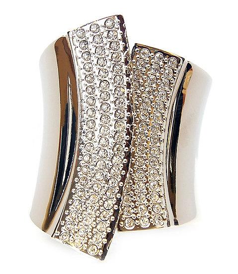 """""""Gabriell"""" Crystal Cuff Bracelet"""