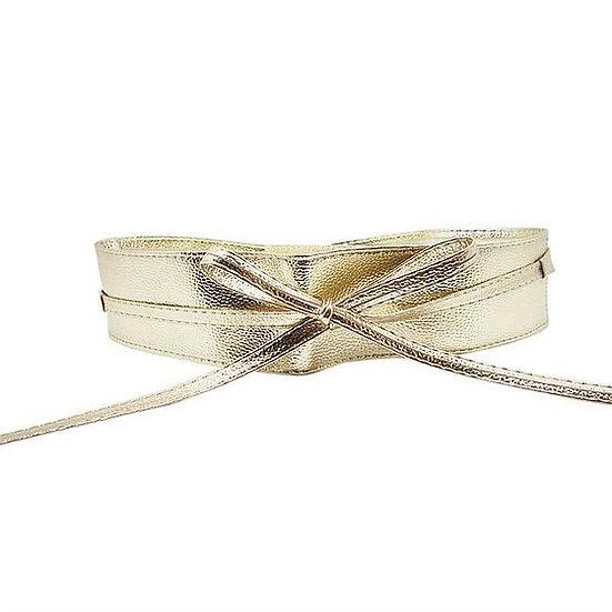 Faux Leather Tie Wrap Belt