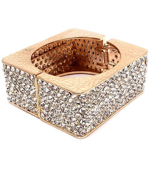 """Summer"" Crystal Square Cuff Bracelet"