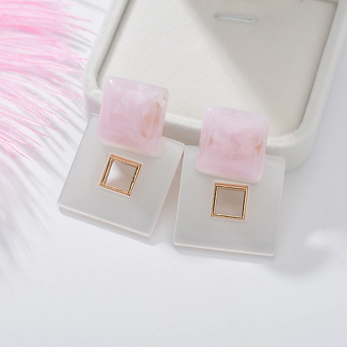 Oversize Square Earrings