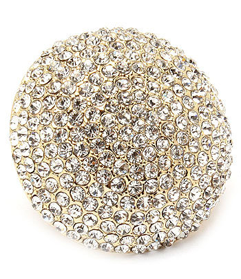 """""""Dorothy"""" Pave Crystal Dome Ring"""