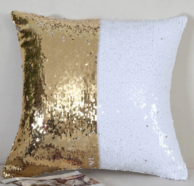 Reversible Metallic Sequin Pillow Cover
