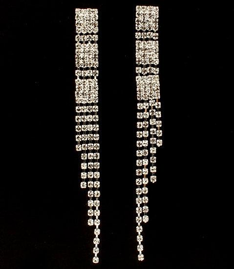 """""""Drew"""" Crystal Bridal Earrings"""