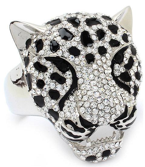"""""""Asia"""" Crystal Jaguar Cuff Bracelet"""