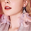 "Thumbnail: ""Megan"" Crystal Feather Earrings"