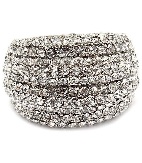 """Lola"" Pave Crystal Ring"