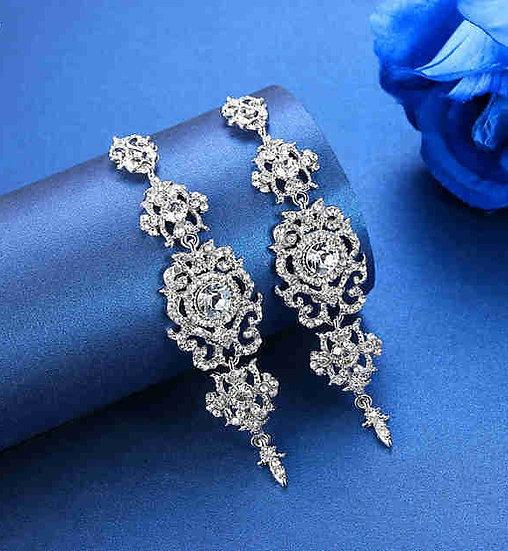 """""""Ocean""""  Crystal Bridal Earrings"""