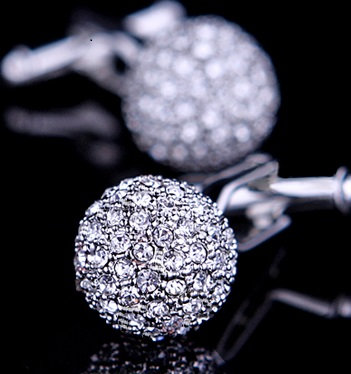 Crystal Ball Cufflink (pair)