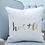 "Thumbnail: Gold Foil ""Hustle"" Pillow Cover"