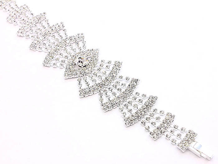 """Valora"" Crystal Bridal Bracelet"