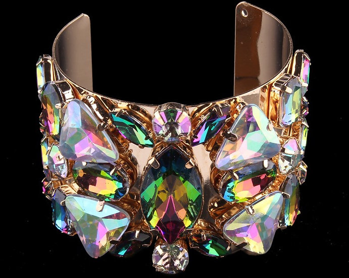 """Dawn"" Crystal Open Cuff Bracelet"