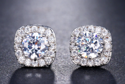 """Vita"" Cubic Zirconia Stud Earrings"