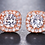"Thumbnail: ""Vita"" Cubic Zirconia Stud Earrings"