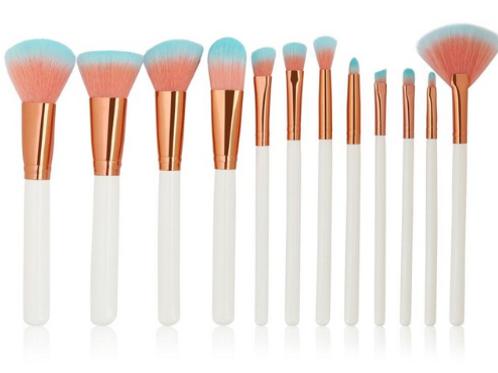 Orange/Blue Bristle Makeup Brush Set
