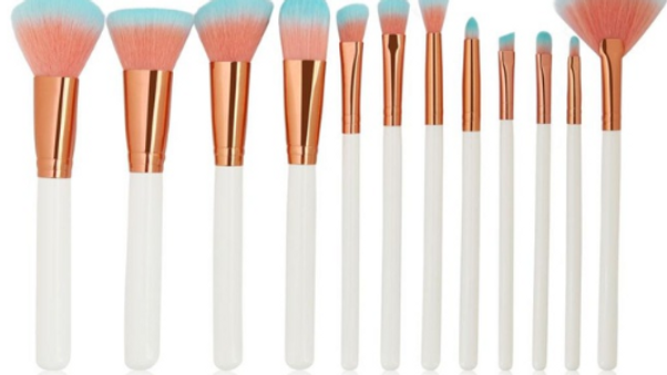Orange/Blue Bristle Makeup Brush Set