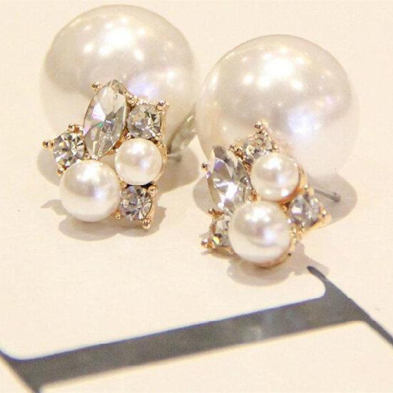 """""""Oprah"""" Pearls & Crystals Earrings"""