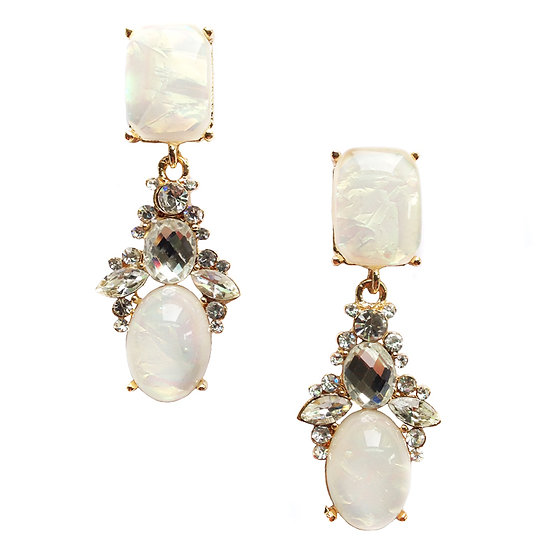 """Darinda"" Opal Crystal Earrings"