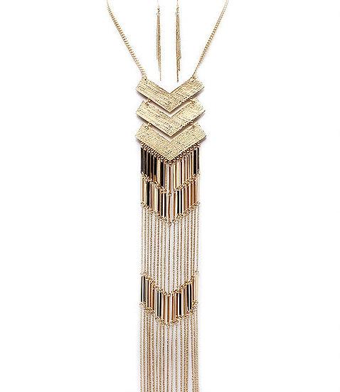 """""""Milan"""" Tassel Chain Necklace Set"""