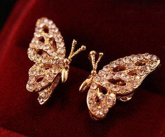 """""""Rita"""" Crystal Butterfly Earrings"""