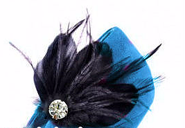 Black Feather Crystal Embellished Shoe Clip (pair)