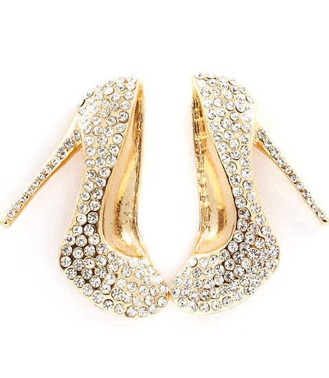 """Nakita"" Crystal Heel Earrings"