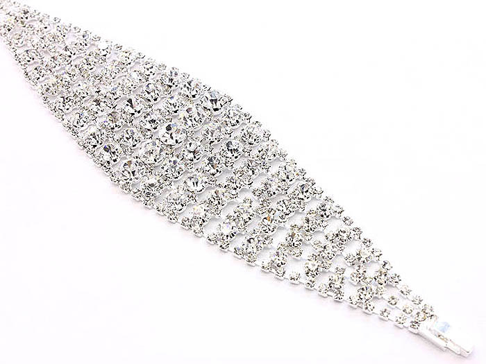 """Shelby"" Crystal Bridal Bracelet"