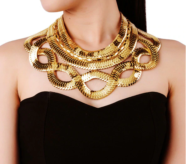 """Natalie"" Chain Choker Necklace"