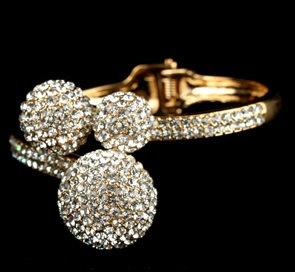 """""""Monae"""" Crystal Cuff Bracelet"""