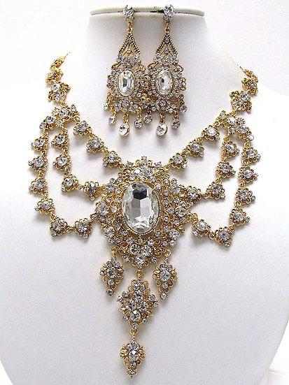 """Victorian"" Crystal Necklace Set"