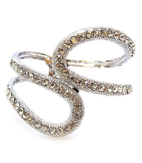 """Jacqueline"" Crystal Cuff Bracelet"