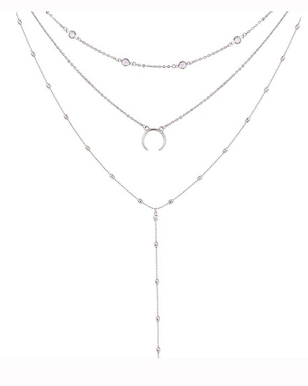 """Tika"" Crescent Moon Pendant Necklace"