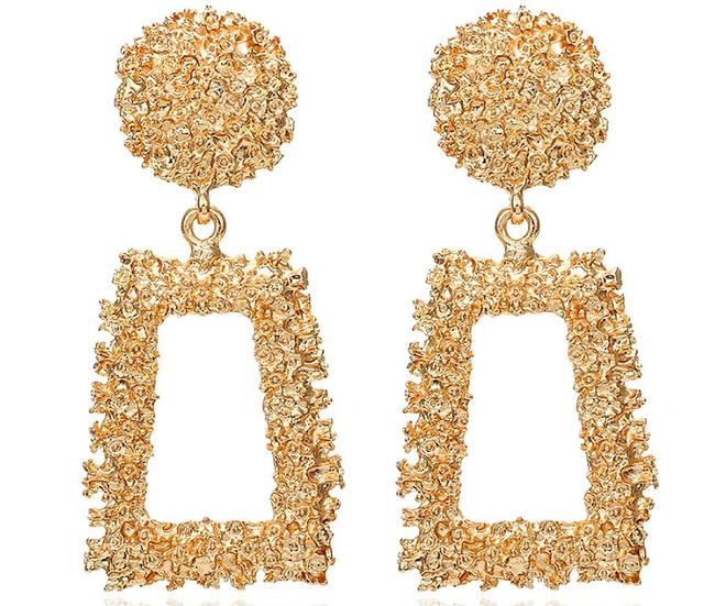 """Heidi"" Metallic Geometric Earrings"