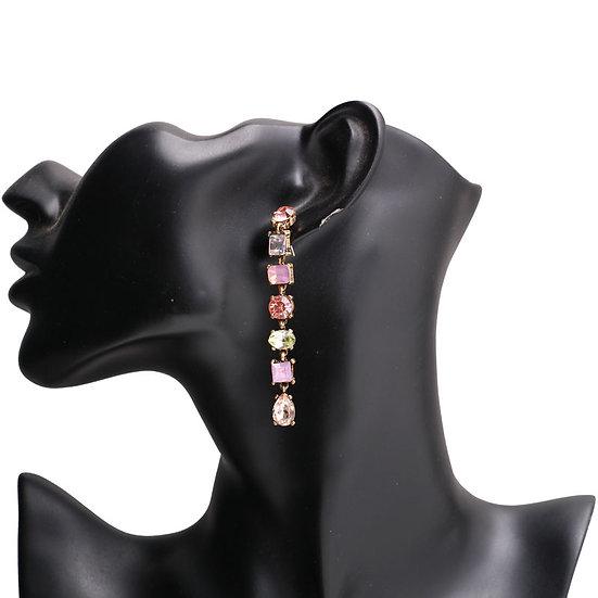 """Patricia"" Crystal Dangle Earrings"