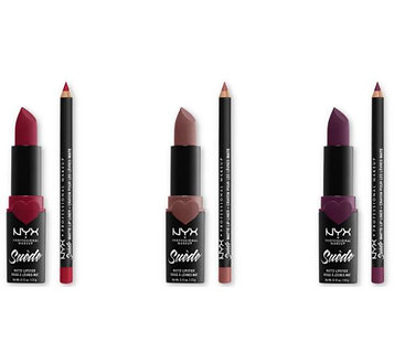 NYX 6PC Set Suede Matte Lipstick + Liner Vault