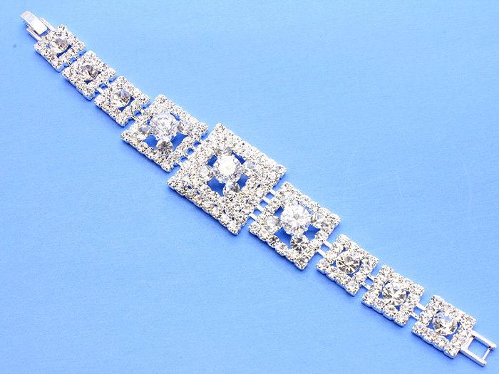 """Connie"" Crystal Bridal Bracelet"