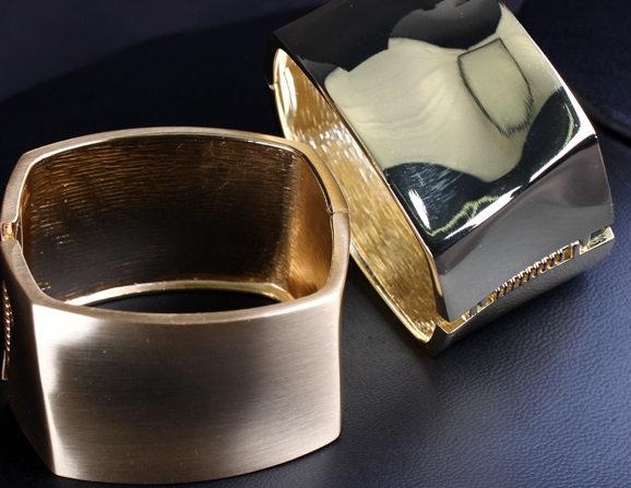 """Michelle"" Glossy Metallic Cuff Bracelet"