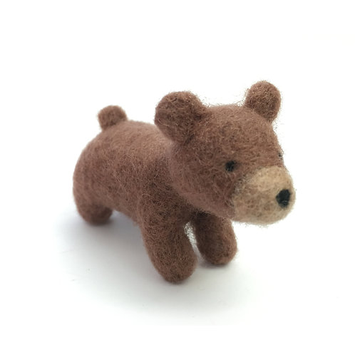 Needle Felted Brown Bear