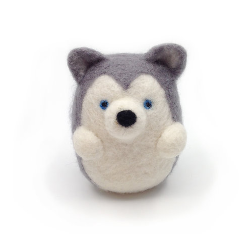 Egg-Shaped Needle Felted Husky