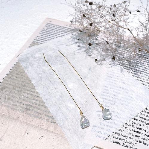 Pearl Chain Earrings - Seashell