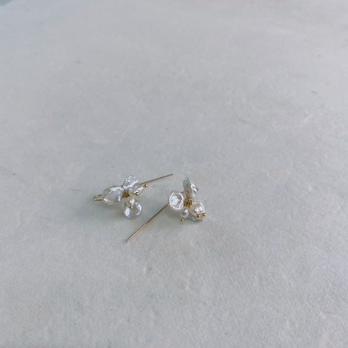 Pearl Drop Earrings - Orchid