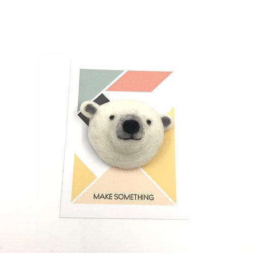 Polar Bear Brooch