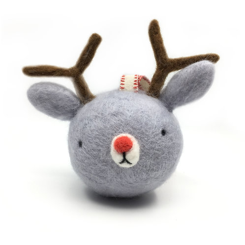 Needle Felted Deer Ornament