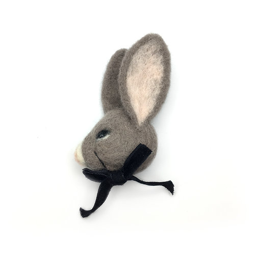 Needle Felted Rabbit Brooch