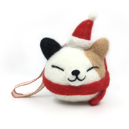Needle Felted Cat Ornament